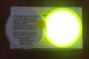 20 x Bright Yellow Cyalume Chemlight Glow Snap Light Stick To Most Surfaces