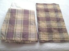Dusty Lavender and Light Gold Plaid Tailored Full Bed Skirt/Sham