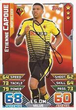 Etienne capoue Firmata WATFORD 2015/2016 Match Attax TRADING CARD + COA