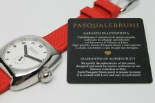 PASQUALE BRUNI STAINLESS AUTOMATIC WATCH CERTIFICATE OF AUTHENTICITY RED BAND
