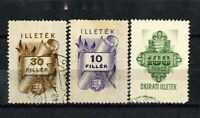 Hungary Stamps 1949 Revenues VF USED 3 Values