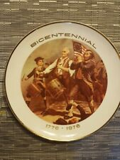 Vintage Patriotic War Plate The Spirit of 76 Fine China Plate by Viletta Oregon