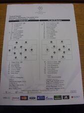 07/11/2012 COLORI teamsheet: Valencia V BATE BORISOV Champions League []. cerchiamo