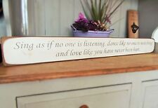 SING DANCE LOVE DECOR PRESENT GIFT WALL ART WOOD SIGN PLAQUE BY AUSTIN SLOAN