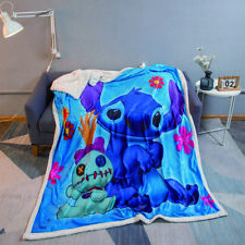Lilo & Stitch 3D Print Throw Blanket Plush Sofa Bed Sherpa Fleece Blanket Gift