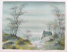 """BERNARD CHAROY """"FORGOTTEN MEADOW"""" 1978 Hand Signed Limited Edition Lithograph"""