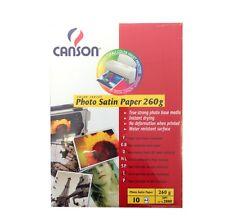 CANSON papier photo jet d'encre 260g/m² a4 10 feuilles semi mat photo paper jet d'encre