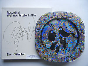 Rosenthal Christmas Plate Wiinblad Glass 1977 Annunciation 1. Choice Boxed