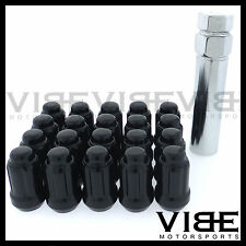 (20) 12X1.25 BLACK SPLINE TUNER WHEEL LUG NUTS QTY 20 FITS SUBARU BRZ SCION FRS