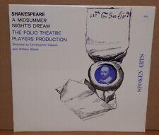 Shakespeare A Midsummer Night's Dream Folio Theatre SEALED vinyl LP spoken arts