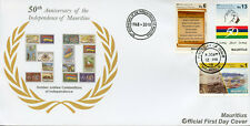 Mauritius 2018 FDC Independence 50th Anniv 3v Cover Flags Ships Tourism Stamps