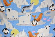 Polar Bear Flannelette Fabric 108cm Wide (per metre)