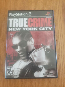 True Crime New York City Sony PlayStation 2 2005 PS2 W/ Manual