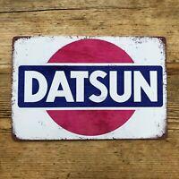 DATSUN BLECHSCHILD VINTAGE SCHILD JAPAN WERKSTATT RETRO NISSAN FAIRLADY 240Z