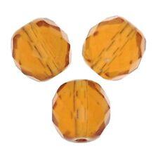 25 Perles Facettes cristal boheme 6mm  TOPAZE TOPAZ