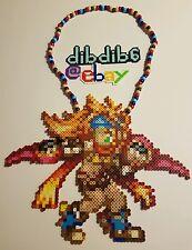 Rikku final fantasy kandi perler rave edm edc hama PLUR melty bead festival art