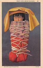 Native Americana postcard Pretty Eyes Be-Nah Na-Zuhn Navajo Baby papoose