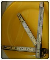 "Lufkin extension rule No X46F folding wood ruler with brass 6"" extension Ruler"