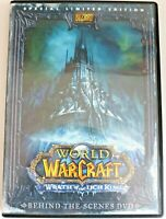 DVD R2 - World Warcraft Wrath of the Lich King Behind the Scenes DVD - Preowned