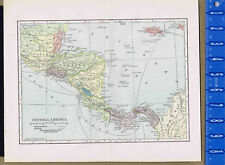 Map Print -Central America - 1904
