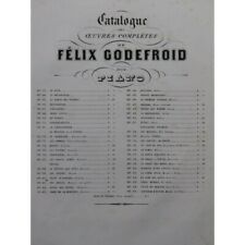 GODEFROID Félix Vieux menuet Piano ca1856 partition sheet music score