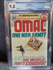 OMAC #1 - Signed JACK KIRBY! CGC 9.8 WHITE - NM/MT Origin & 1st OMAC MAKE OFFER!