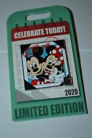Disney National Selfie Day Celebrate Today Mickey & Minnie Pin Limited 4000