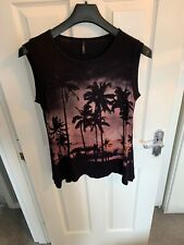 Edlista From Tk Maxx Vest Top Palm Trees Jewled Size Large Active