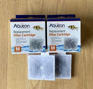 2 BOXES Aqueon Replacement Filter Cartridges Medium M (6 Per Box) + 2 Extra