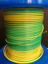 100 Meter Roll 4mm² Earth Wire Electrical  Green Yellow Single Core