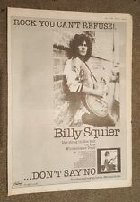 Billy Squier 1981 press advert Full page 28 x 39 cm mini poster