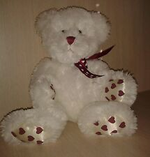 "Retired Ganz Capri Plush Teddy Bear HeritageCollection Valentine Hearts 13"" NWOT"