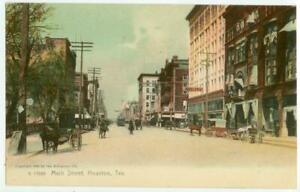 1905 Houston Texas Main Street - fine German printing