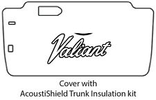 1963 1966 Plymouth Valiant Trunk Rubber Floor Mat Cover with MA-010 Valiant