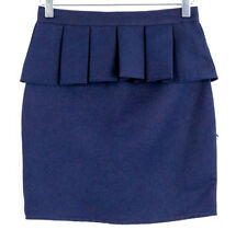 US Polo Assn girl's NWT dark blue peplum skirt Size 12 (fits like adult XXS-XS)