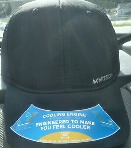 NWT~Mission Hydroactive Cooling Adjustable Hat Black~ Unisex