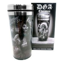 DGA Day of the Dead Native American Warrior Wolf Drinking Insulated Thermo 16 oz