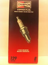 Champion RF10C box of 8 Spark Plugs Stock No. 129 New Old Stock