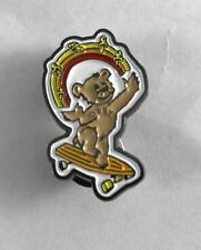 """NEW Obey Skateboard Pin Bear Juggling Mushrooms on Skateboard 1-1/4"""" X 3/4"""""""