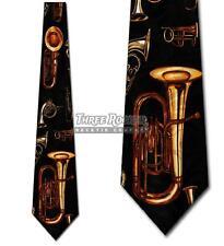 Instrument Tie Horns Neckties Mens Brass Instruments Tuba Music Neck Tie NWT