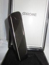 NOS Butane Sarome Cigarette Pipe Lighter Roll Flame Flint SD16W-12 Ribbed Stripe