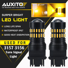 AUXITO 2X 3157 3457 3057 3156 Amber Yellow 48SMD Turn Signal Lights LED Bulbs EA