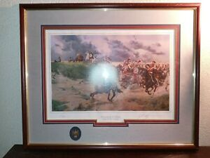 "Keith Rocco Signed Numbered Framed Double-Matted Print ""Tribute To Caesar"" 1988"