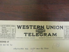 Movie letterhead Western Union telegram to Palace theatre organist 10/12/1920