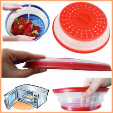 2 in 1 COLLAPSIBLE COLANDER & MICROWAVE PLATE COVER BPA Free Dishwasher Safe