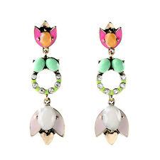 Tropical Pops Designer TROPICANA CHANDELIERS Pink Green DROP DANGLE EARRINGS