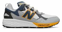 New Balance Men's Fresh Foam Crag v2 Shoes White with Grey & Yellow