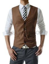 Polyester Button Business Big & Tall Waistcoats for Men