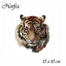"""Bügelbild """" Großer Tigerkopf"""", Hotfix 15 x 16 cm Applikation für Ihre Textilien"""