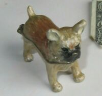 Dog Trinket Box Black Vintage Rhinestone Collar (R148)